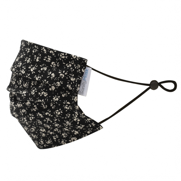 Sanity Mask KV96 Doble Capa Black Flowers